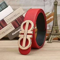 Ferragamo Women Fashion Smooth Buckle Belt Leather Belt