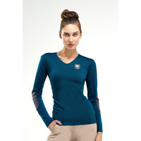 Asmar Merino Wool V Neck Sweater Everglade SALE