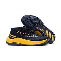 Adidas Lillard Dame 4 Navy/yellow Basketball Shoes