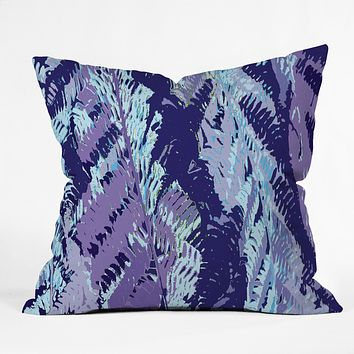 Rosie Brown Amethyst Ferns Throw Pillow
