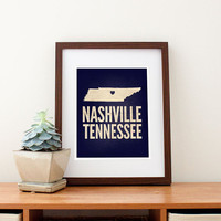 Nashville Tennessee Love Print 8 x 10 by amycnelson on Etsy