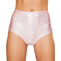 Pink Mermaid High-Waisted Scrunch Booty Shorts