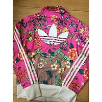 adidas Originals Zip Front Tracksuit Top In Floral Print