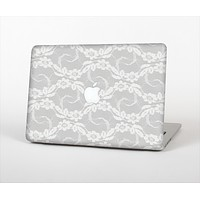 The White Floral Lace Skin Set for the Apple MacBook Air 13""