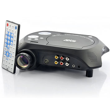 LED Multimedia Projector with DVD Player - 480x320, 20 Lumens, 100:1