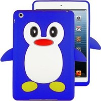 HHI Silicone Skin Case for iPad Mini - Blue Penguin (Package include a HandHelditems Sketch Stylus Pen)
