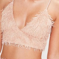 Missguided - Petite Pink Fringe Top