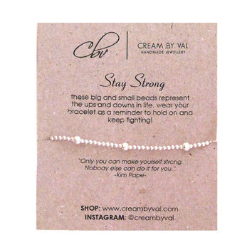 Stay Strong Stretchable Bracelet