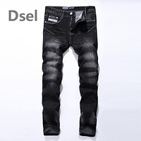 Logo Brand Dsel Mens Jeans High Quality Stripe Slim Black Jeans For Men Fashion Designer Denim Skinny Jeans Men 702