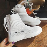 Balenciaga Fashion Woman Comfortable High Top Knit Breathable Sneakers Running Shoes White I-AA-SDDSL-KHZHXMKH