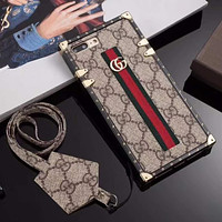 GG Fashion iPhone Phone Cover Case For iphone 7 7plus 8 8plus X XR XS MAX 11 Pro Max 12 Mini 12 Pro Max