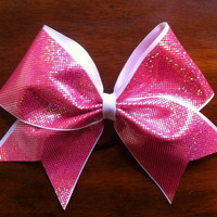 Pink Cheer Bows by AnnieBowBannieBows on Etsy