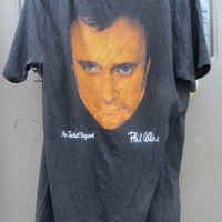 original  1985 PHIL COLLINS No Jacket Required  1985 American Tour Concert Shirt sz large