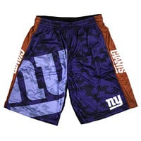 New York Giants Official NFL Big Log Camo Shorts