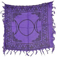 Small Purple Triple Moon Altar Cloth at Every Witch Way Online Shop
