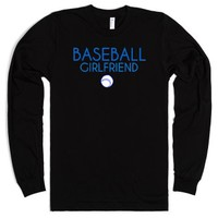 Baseball girlfriend long sleeve t-shirt-Unisex Black T-Shirt