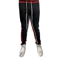 Black 2 Stripe Jogger Sweatpants