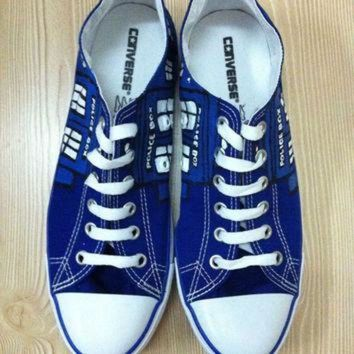 CREY9N Doctor Who Custom Hand Painted Converse Shoes