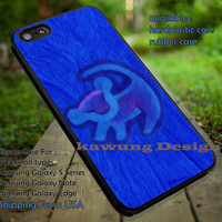 Cartoon Lion Drawing on The Tree Blue iPhone 6s 6 6s+ 5c 5s Cases Samsung Galaxy s5 s6 Edge+ NOTE 5 4 3 #cartoon #disney #animated #theLionKing dt