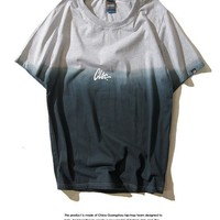 Fashion Hip-hop With Pocket Gradient T-shirts [6541147971]