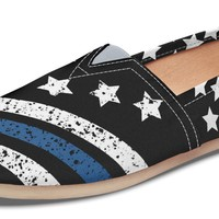 Thin Blue Line Casual Shoes