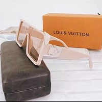 LV Louis Vuitton Hot Sale Women Fashion Personality Sun Shades Eyeglasses Glasses Sunglasses Pink