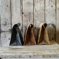 The Marlowe Lunchbag, waxed canvas.