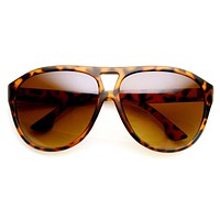Retro Modern Oversize Fashion Aviator Sunglasses 9390