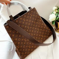 LV New fashion monogram print leather shoulder bag handbag crossbody bag Coffee