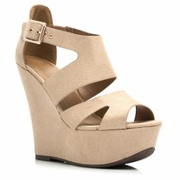 Buckle Your Shoe Strappy Wedges