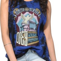 Obey Sign Age Twilight Blue Tie Dye Muscle Tee