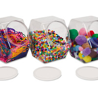 Large Unbreakable Craft Jars - Set of 3 at Lakeshore Learning