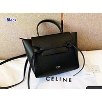 Celine sells casual lady shopping bag with pure color and fashionable shopping bag Black