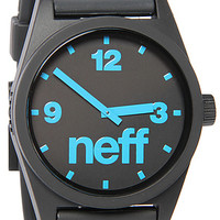 The Daily Watch in Black & Cyan