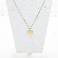 F*ck Yeah Heart Pendant in Gold - Urban Outfitters
