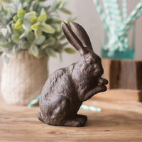 Cast Iron Standing Rabbit