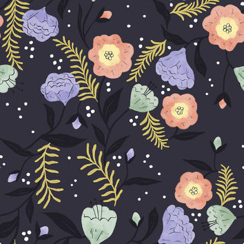 Moon Flowers Removable Wallpaper