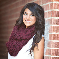 Maroon Infinity Scarf - Fall Scarf Winter Scarf