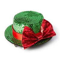 Holiday Sequin Hat with Glitter Bow Hair Clip  | Claire's
