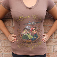 Over The Garden Wall Hand drawn/painted T-shirt!! -One of a kind!!