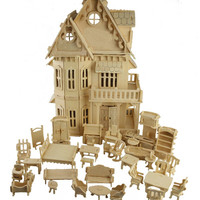 3d Wooden Puzzle Dollhouse Furniture