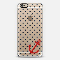 Classic Nautical Polka Dot Transparent iPhone 6 case by Organic Saturation | Casetify
