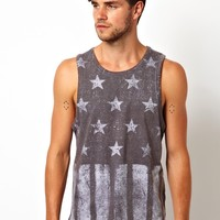 ASOS | ASOS Vest With Sublimated Flag Print at ASOS