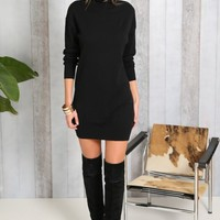 Windy Nights Knit Dress Black - Outerwear - Clothes