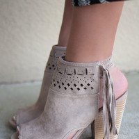 NOT RATED Chiara Cream Suede Booties