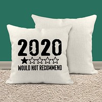 Funny 2020 Pillow Cover 1 Star Not Recommend 2020 Fun Throw Pillow Case No Stars For Twenty Twenty Gift Idea 15.75""