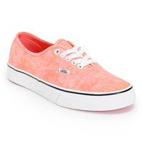 Vans Women's Authentic Sparkle Coral Shoe