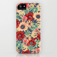 SEPIA FLOWERS -poppies, pansies & sunflowers- iPhone & iPod Case by Bows & Arrows