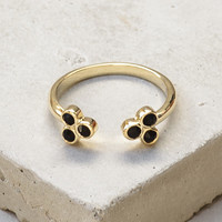 Henna Ring - Gold with Black Stones