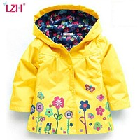 Baby Girls Windbreaker Spring Jackets For Girls Trench Coat Raincoat Kids Outerwear Coat For Girls Jacket Children Clothes